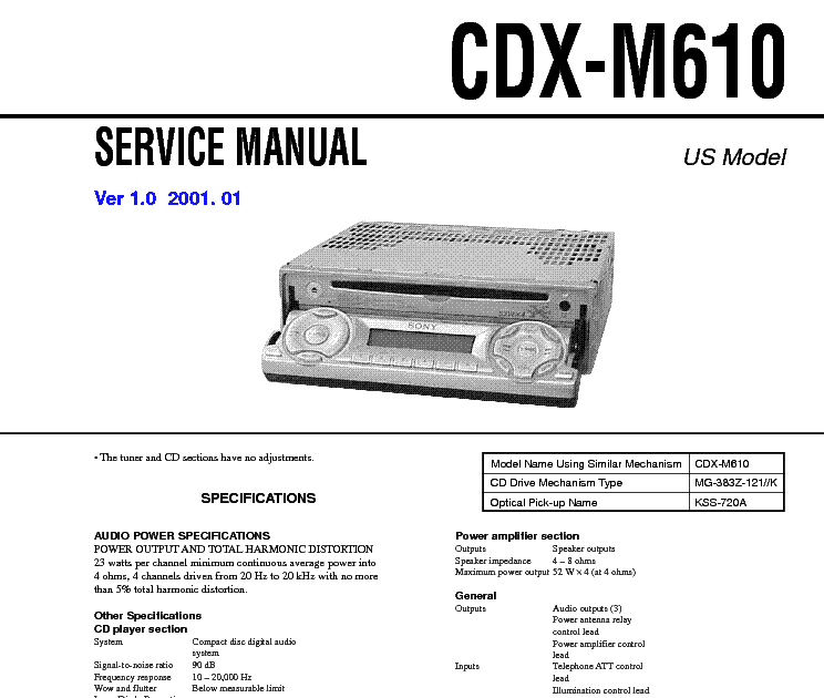 17 Images Sony Cdx