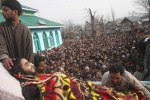Pic-5 Kashmiri Muslim villagers display the body of  a Kashm