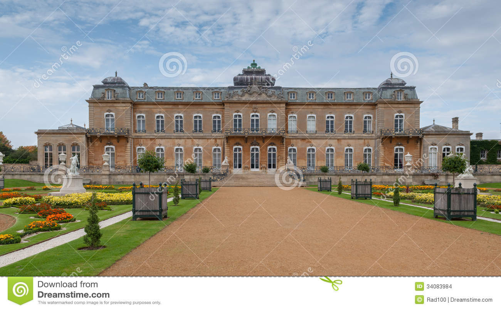 english mansion wrest house th french style berdfordshire uk 34083984