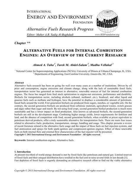 (PDF) ALTERNATIVE FUELS FOR INTERNAL COMBUSTION ENGINES