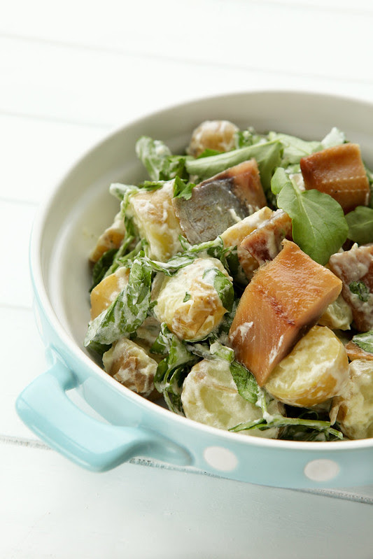 potato herring watercress salad