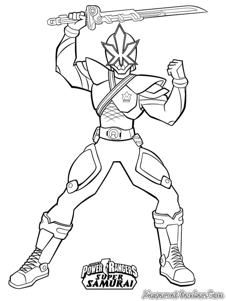Sketsa Mewarnai Gambar Power Ranger Dunia Putra Putri