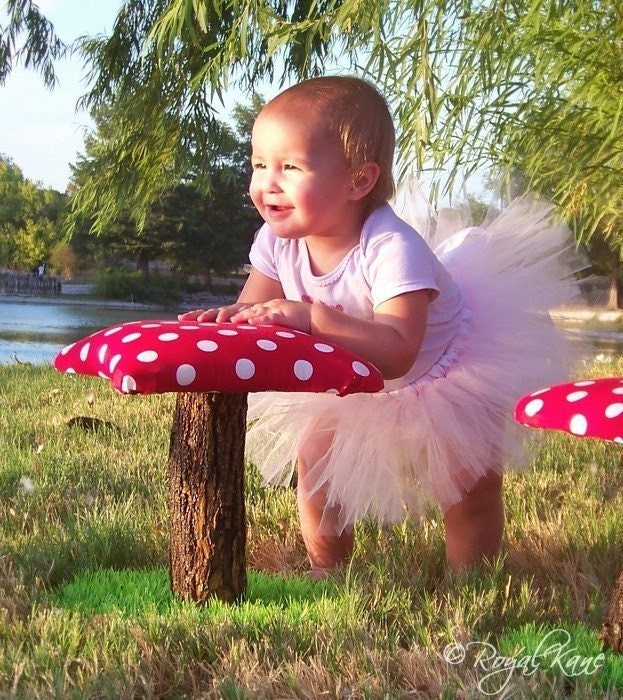 Whimsical Polka Dot Toadstool Mushroom Chair by Royalkane on Etsy