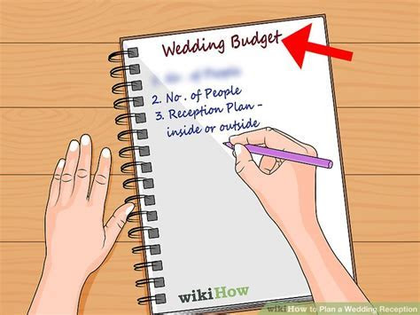 How to Plan a Wedding Reception: 13 Steps (with Pictures)
