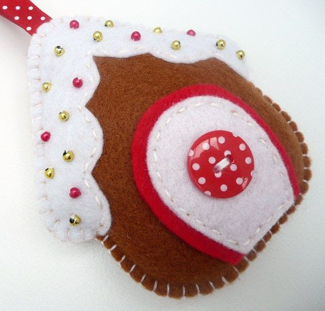 Gingerbread House Felt Ornament