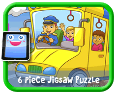 Yellow School Bus Online jigsaw puzzle for kids