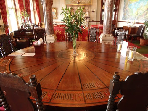 The Round Table in the Camelot Castle B&B
