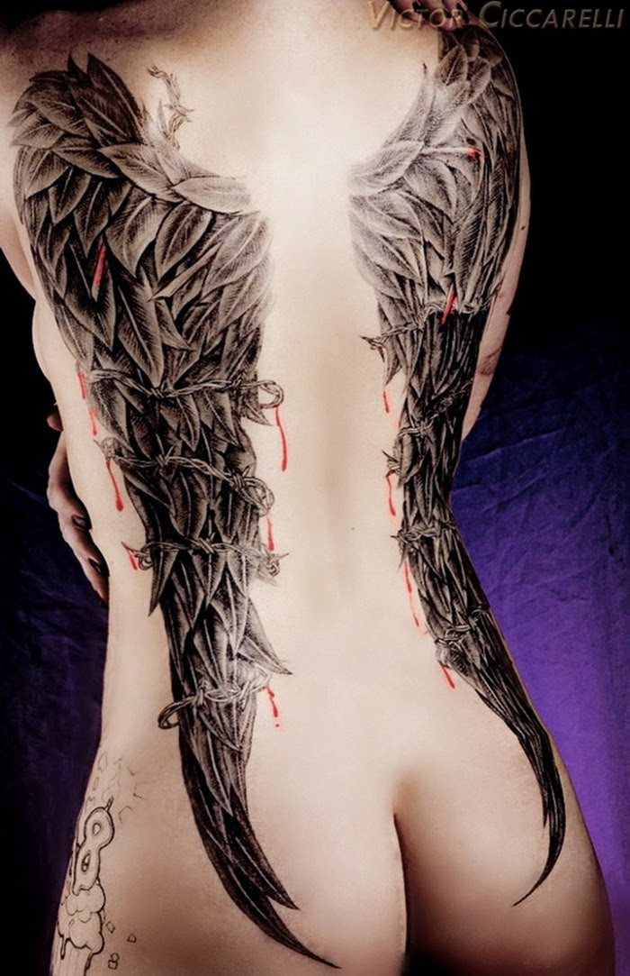 Angel Wing Tattoo Designs For Women Tattoo Love
