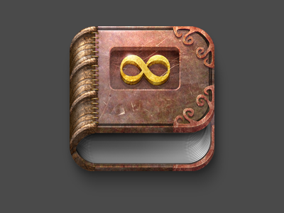 Infinity old mystic book icon