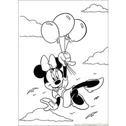 minnie mouse color page3 coloring page  free minnie mouse