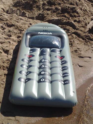 Nokia inflatable mobile phone lilo!