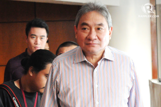 MIGHTY. Mighty Corporation president Alex Wongchuking arrives with former NBI deputy director Reynaldo Esmeralda at the NBI headquarters on March 7, 2017. Photo by Ben Nabong/Rappler