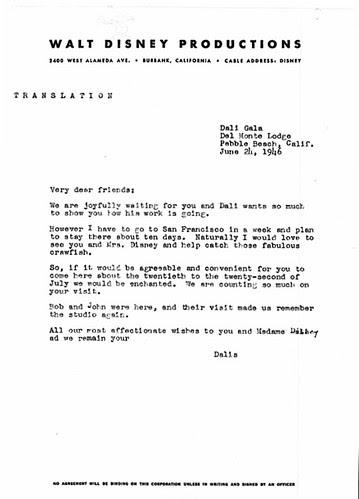 Walt Disney, Salvador Dali & 'Destino' (5 Translation)