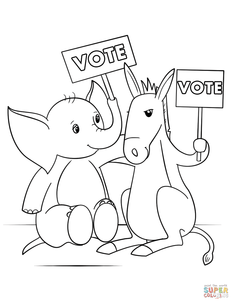Coloring Pages for Election Day   Thousand of the Best ...