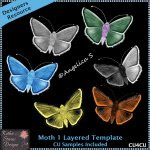 Moth 1 Layered Template CU4CU