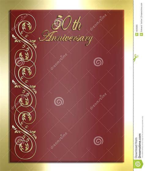 50th Anniversary Card Or Invitation Stock Illustration