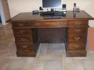 Gorgeous Executive Desk W Leather Top Made By Sligh Furniture St Augustine Fl 25482033