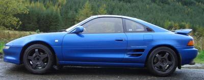 The Blue Dolphin - Toyota GT-S T bar Rev 3 95 model with 17 inch black 5 spoke OZ wheels