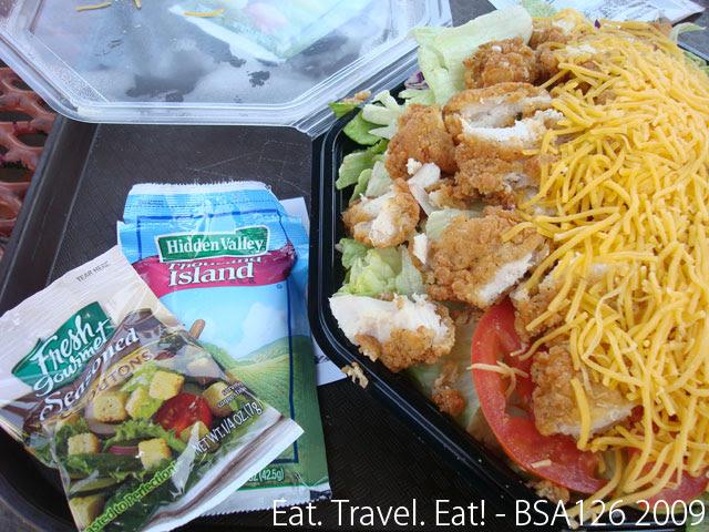 Crispy Chicken Salad Detail
