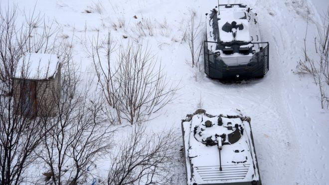 Tanques em Avdiivka