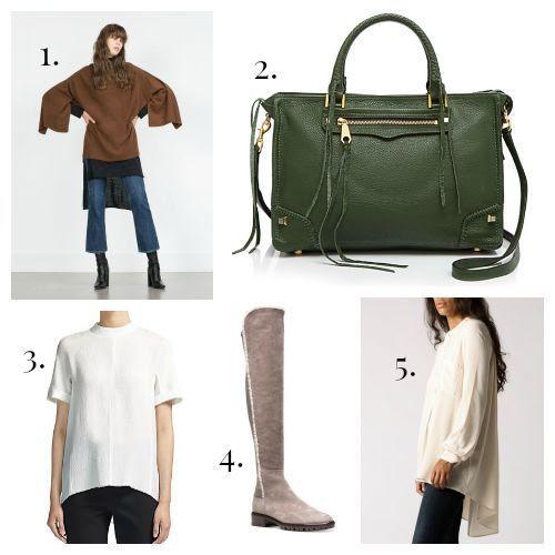 Zara Sweater - Rebecca Minkoff Handbag - Whistles Blouse - Stuart Weitzman Boots - Azalea Blouse