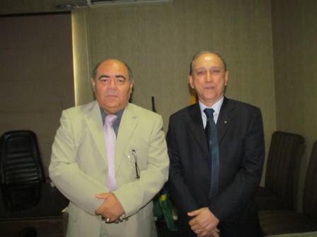 Presidente da Câmara, Astro de Ogum, com o desembargador Lourival Serejo, corregedor da Justiça Eleitoral