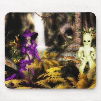 The Living Forest & Wizard friend. Mousemats