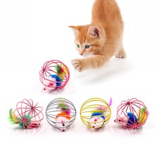 Cat Interactive Stick Feather Wand With Small Bell Mouse Cage Toys