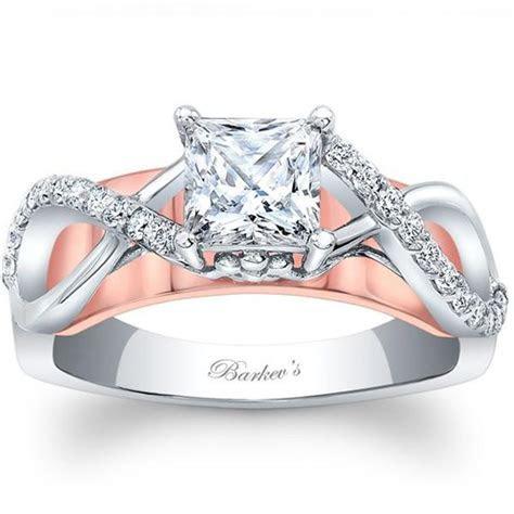 Barkev's Two Tone Princess Cut Criss Cross Diamond