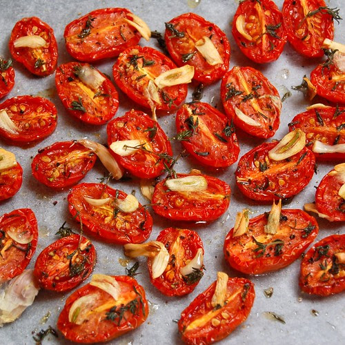 Slow-roasted Baby Roma Tomatoes© by haalo