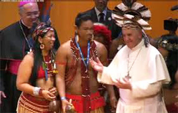 Francis receives an Indian cocard in RIo