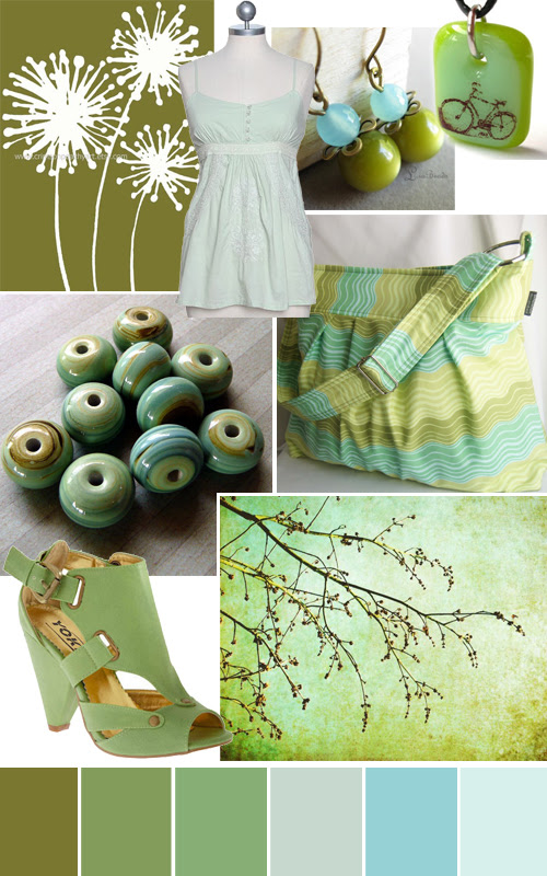 color story olive and mint handmade and indie accessories and art