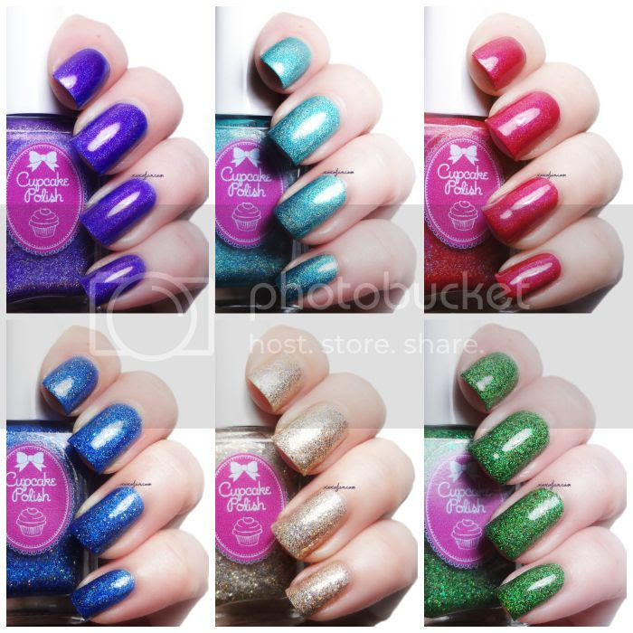 xoxoJen's swatches of Cupcake Polish Holiday 2014 collection