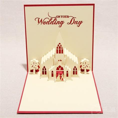 3D Sweet Wedding Greeting Cards Handmade Paper Sculpture