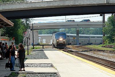 Amtrak rolling into LaCrosse, Wisconsin
