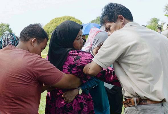 Polis gali semula kubur kanak-kanak maut terkena serpihan batu pengasah