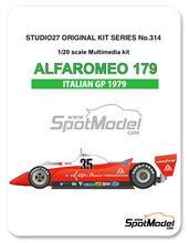 Maqueta de coche 1/20 Studio27 - Alfa Romeo 179 Scaini - Nº 35 - Bruno Giacomelli - Gran Premio de Italia 1979 - kit Multimedia