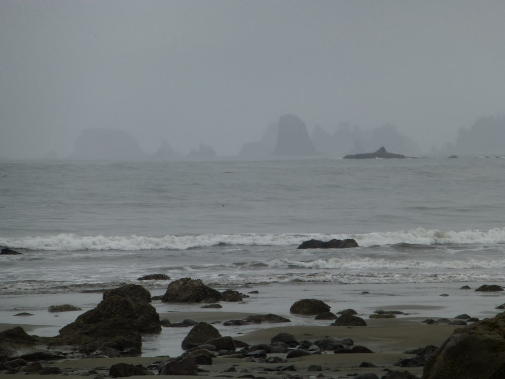 point of arches in fog
