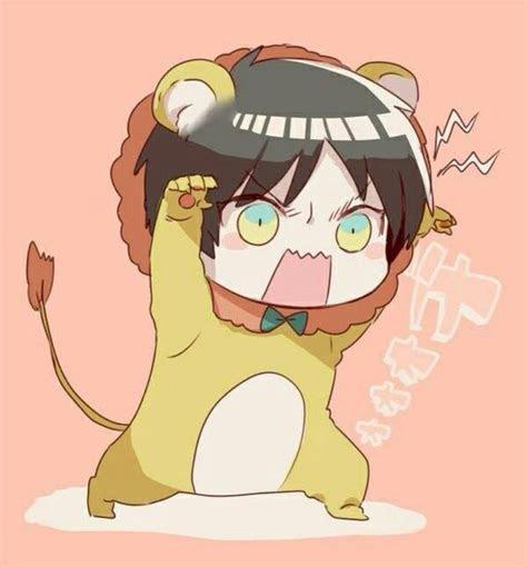 lion eren  cute attack  titan pinterest