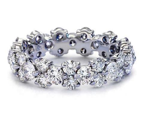 5.00CT ROUND CUT DIAMOND FULL ETERNITY RING 14K WHITE GOLD