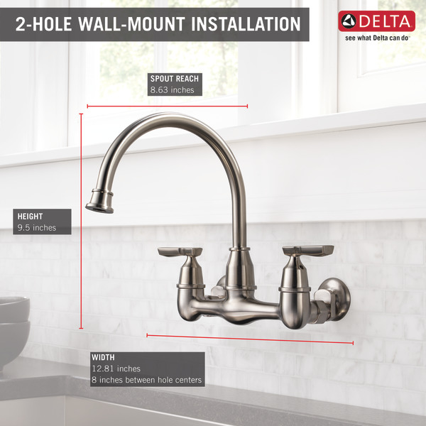Wall Mount Faucet Kitchen Sink