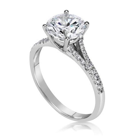 2.5 Carat Round Cut Diamond Engagement Ring   Ara Diamonds