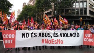 "Pancarta ""no es no"""