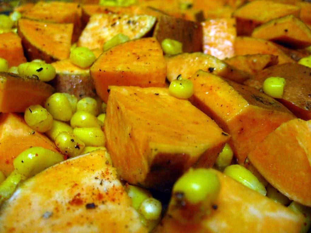 Sweet Potatoes and Corn