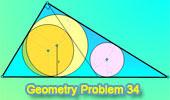 Problema 34: Triángulo rectángulo, Ceviana, Incirculos, Tangentes.
