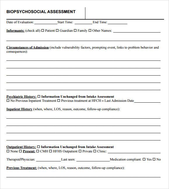 psychosocial assessment template | playbestonlinegames