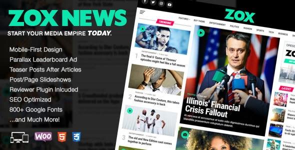 Zox News v3.3.0 - Professional WordPress News