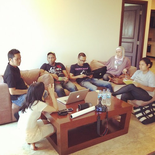 Meeting pra produksi muzik video single terbaru Alvin Anthons