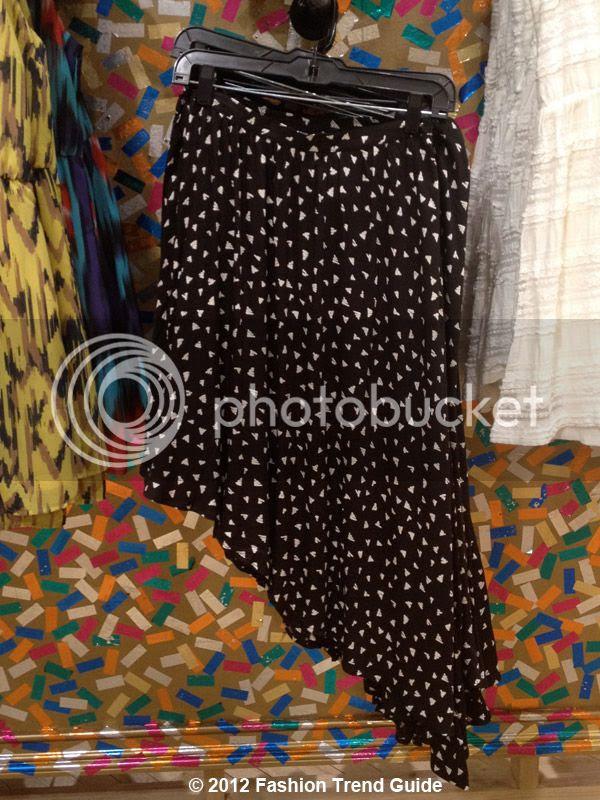 graphic print asymmetrical skirt, Las Vegas Urban Outfitters