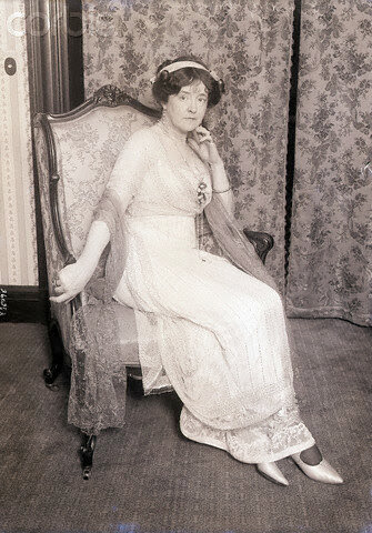 Lady Duff Gordon Shown Seated with Gown